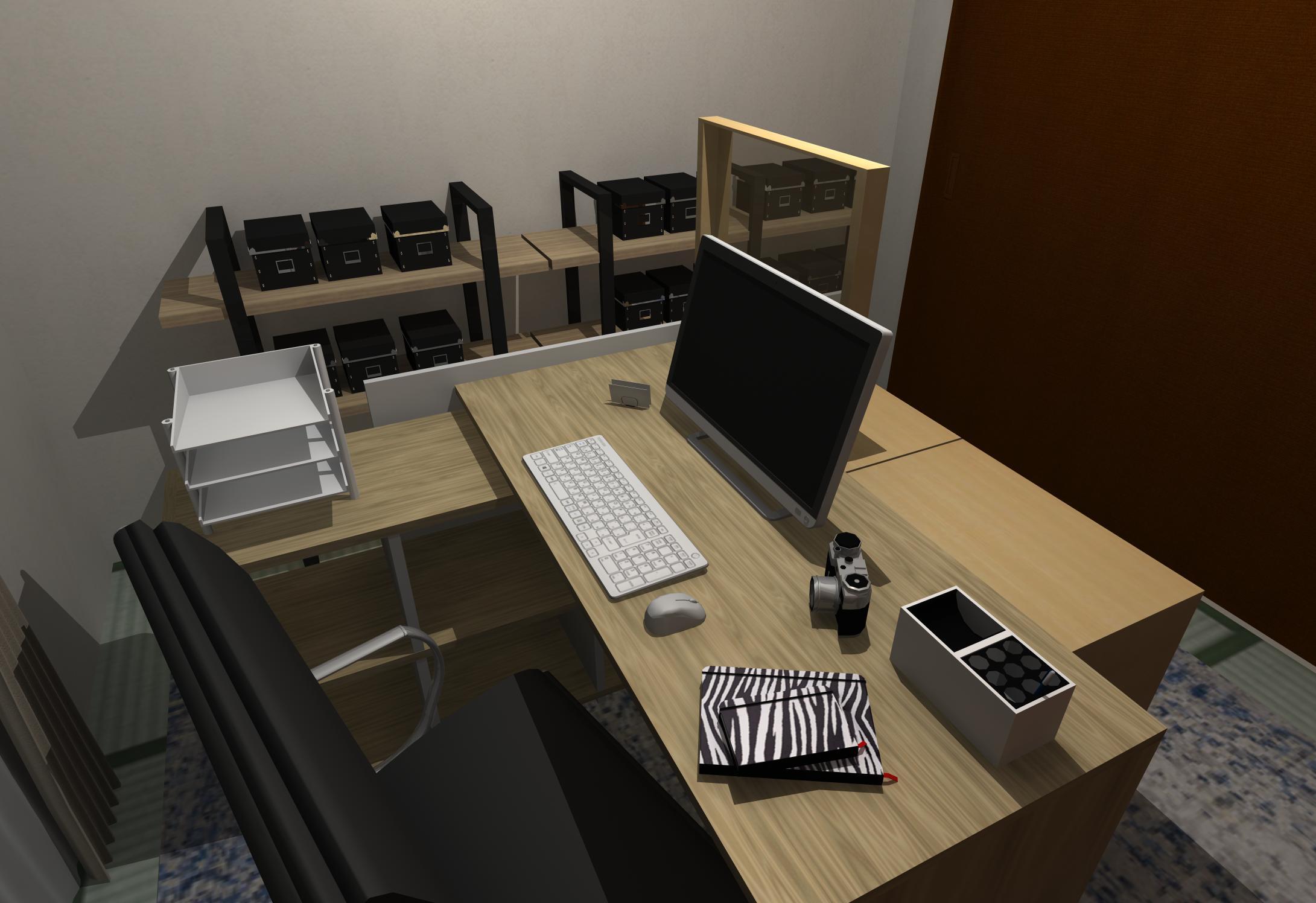 和室に大人の書斎インテリア