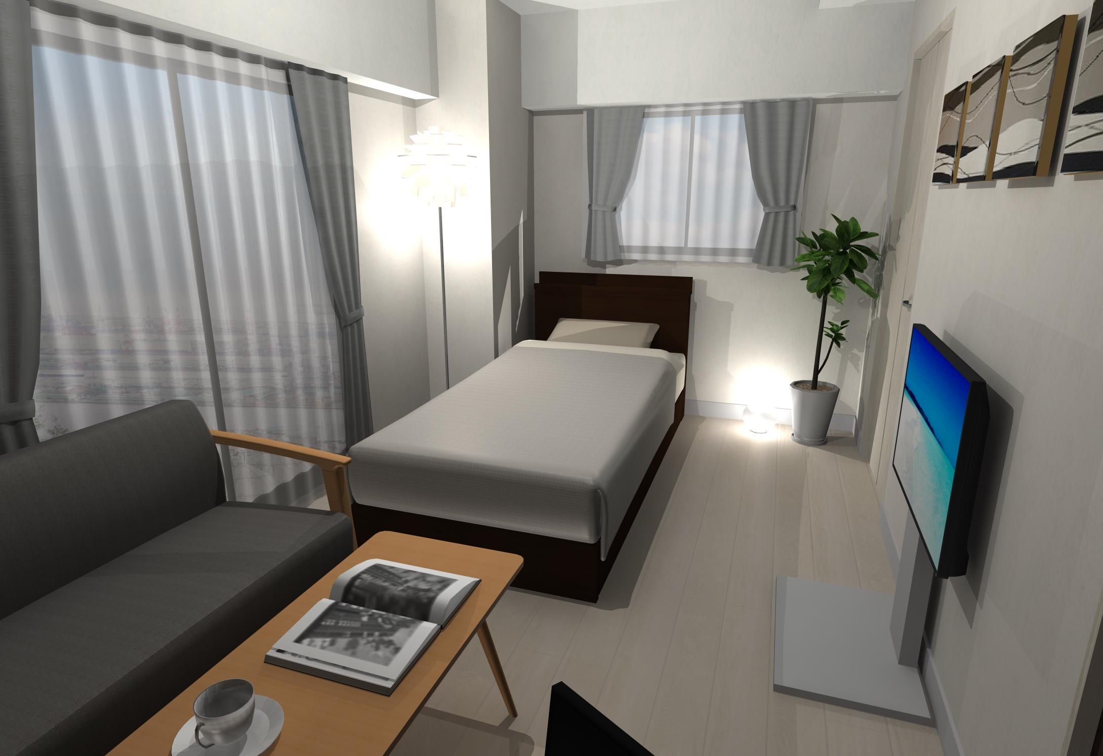 スペースを有効活用した北欧風ホテルライクインテリア