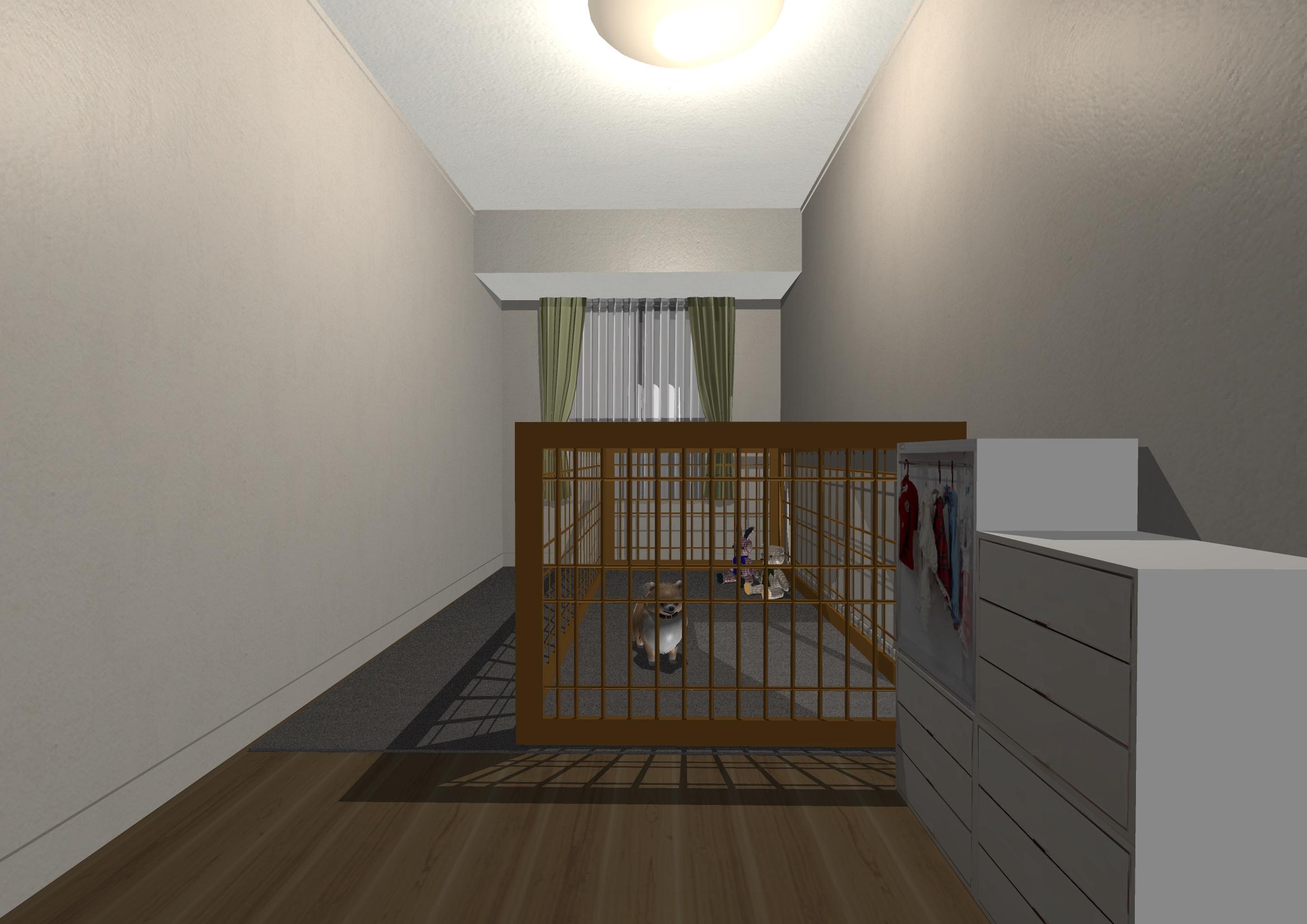 「安全に・清潔に」寛げるワンちゃんのお部屋