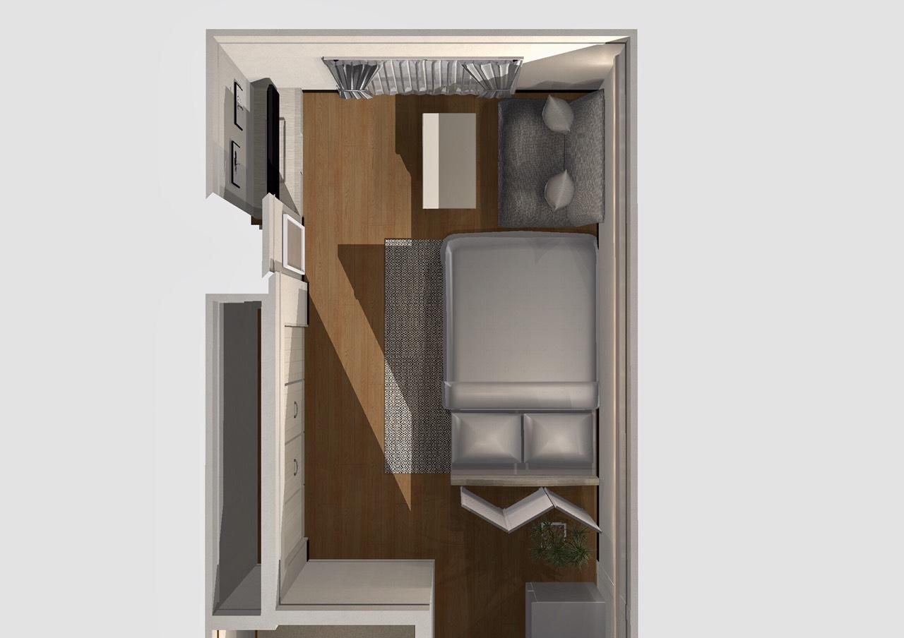 シンプルを基調としたシャビーシックな部屋