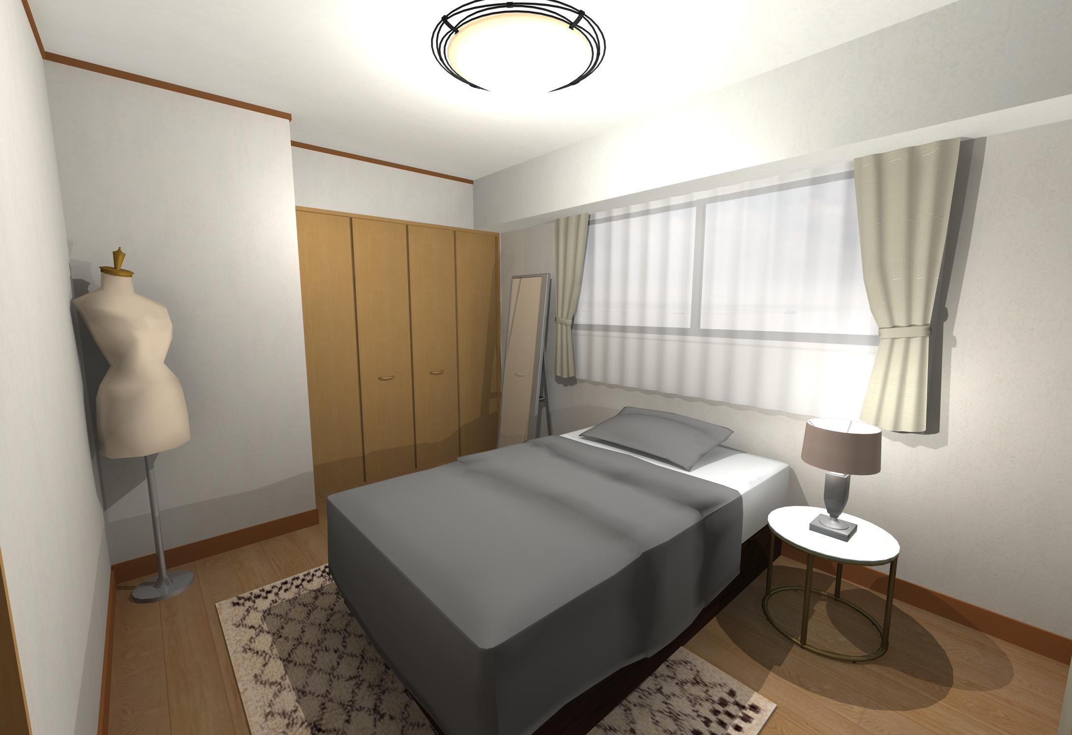 シャビーシックなホテルライクベッドルーム