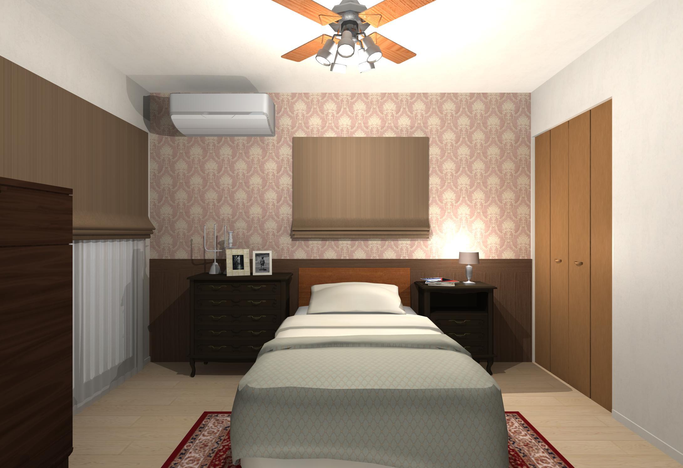 クラシックエレガントなホテルライクベッドルーム