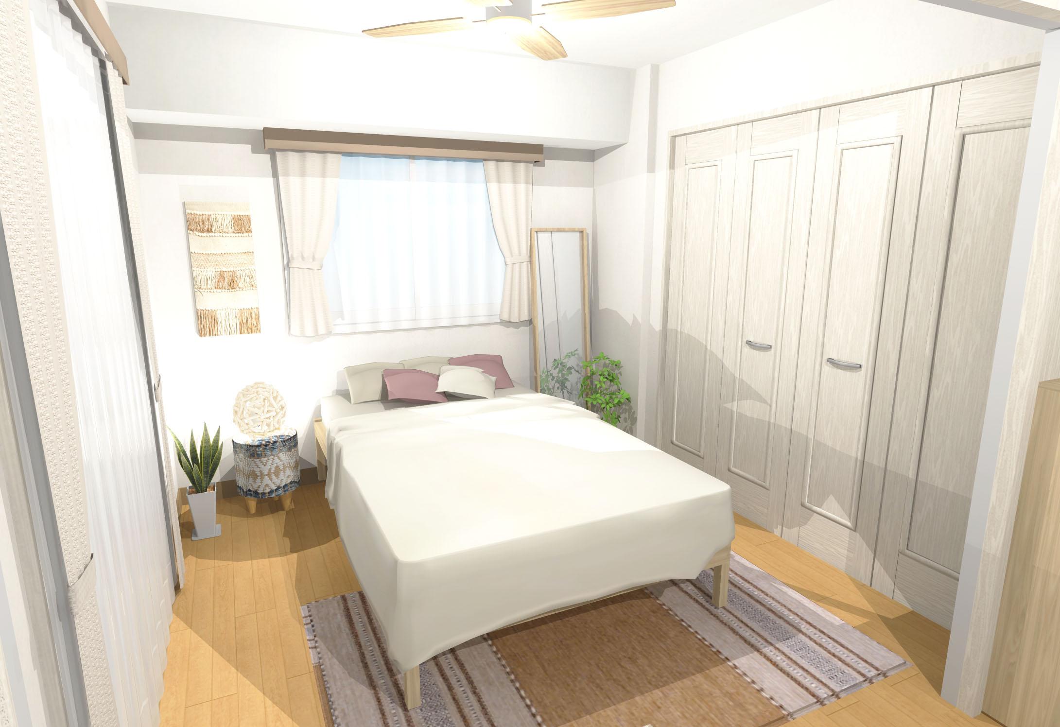 温かみ溢れるナチュラルボーホースタイルのベッドルームインテリア