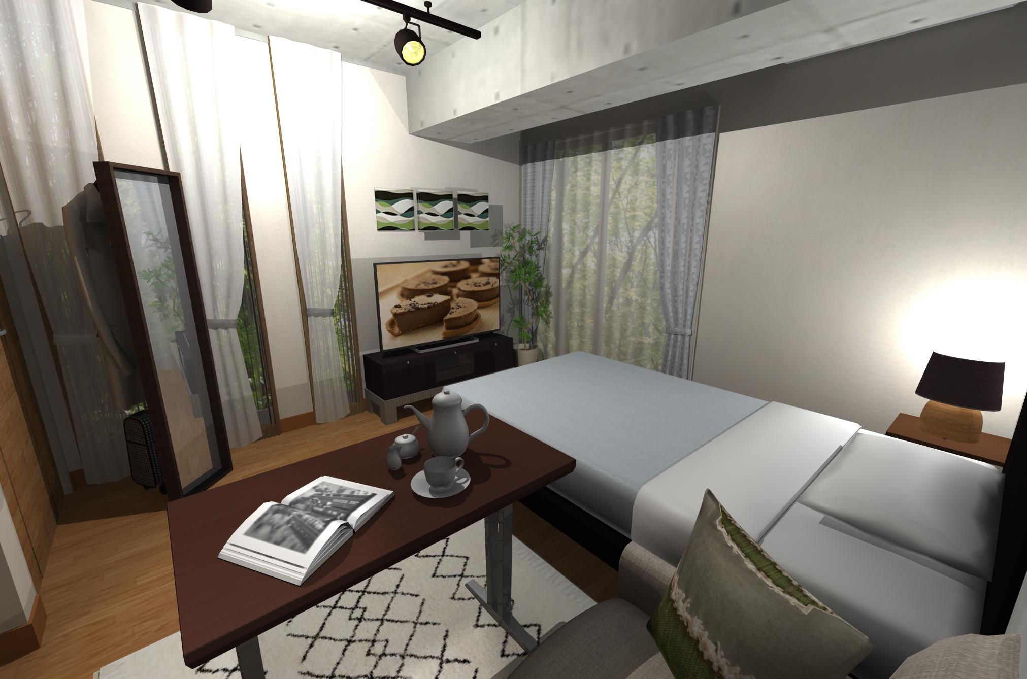 Cafeのように落ち着ける空間。女性好みのソフトヴィンテージスタイルのお部屋
