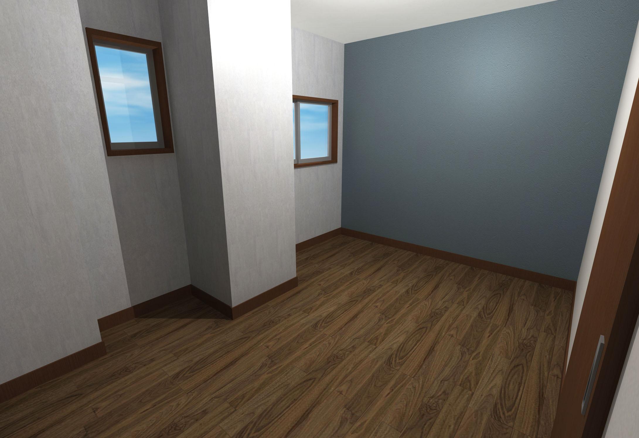 綺麗めモダンな内装壁紙寝室