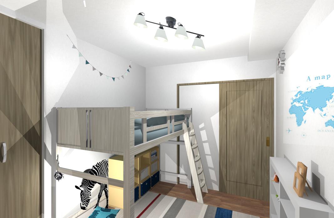 ワクワクを詰め込んだ想像力広がるお部屋〜成長とともにシックに可変できる空間