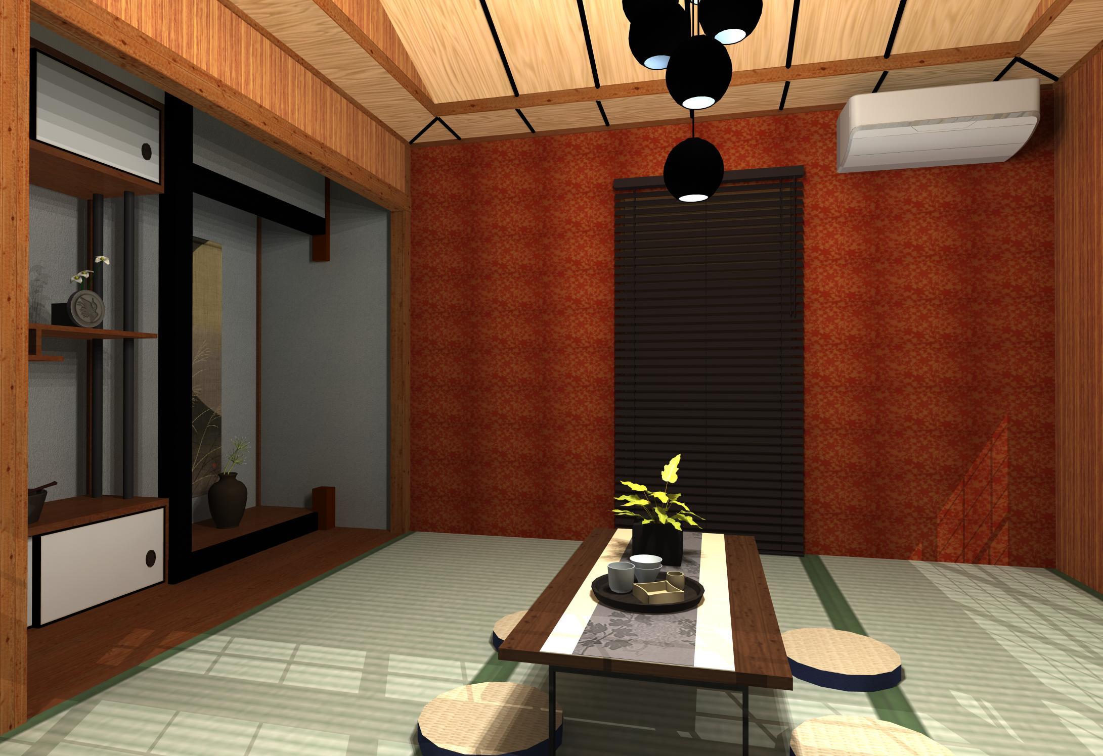 色と季節を楽しむ「丸」のある和+少しモダン和室インテリア