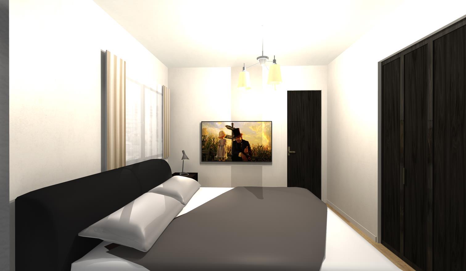 スペースを最大限使う!ホテルライクベッドルーム