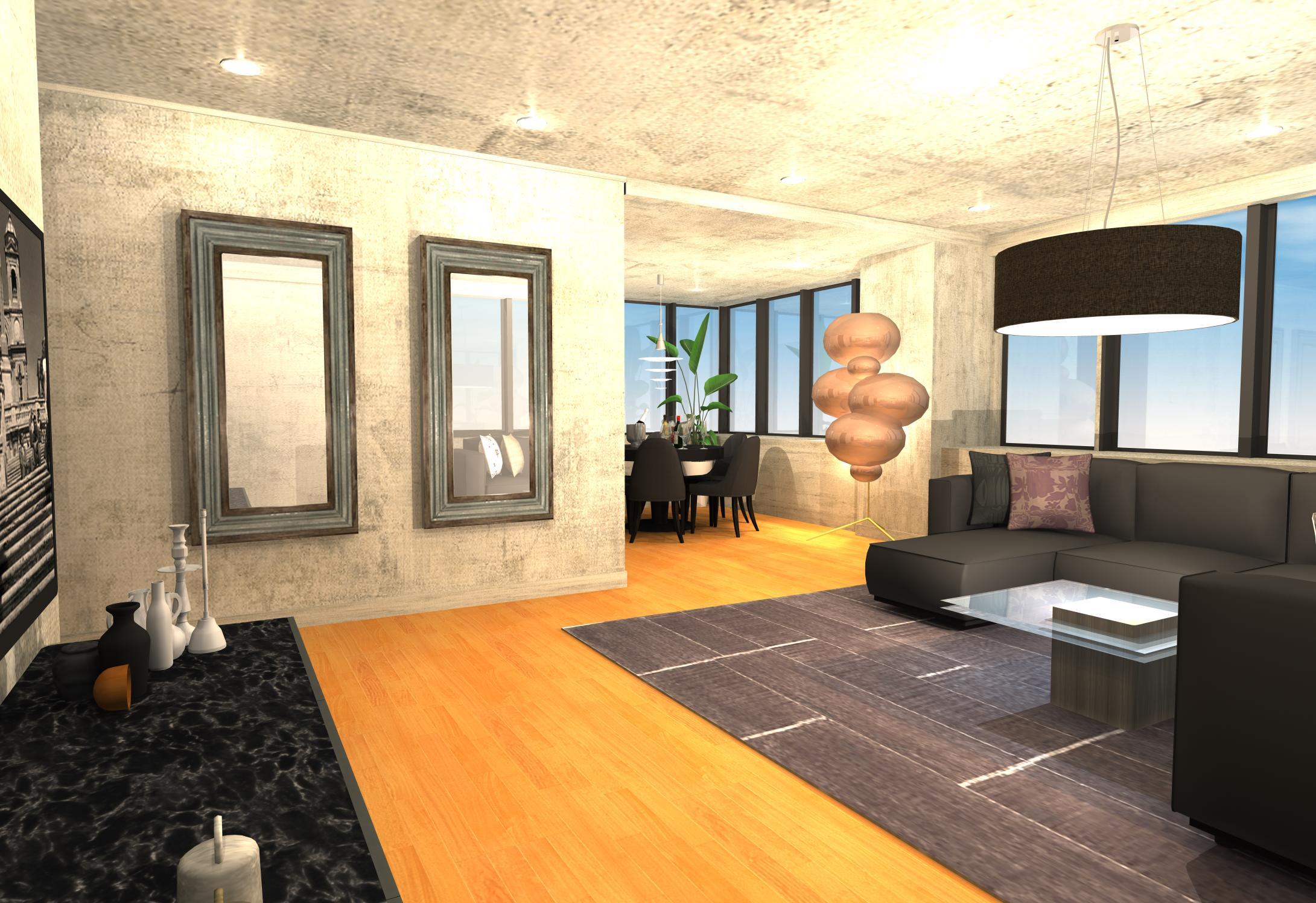 30畳のお部屋のスペースを上手く活かしたスタイリッシュモダンインテリア